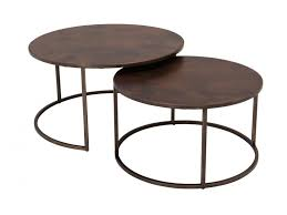 round nesting coffee table beautiful black and white agate nesting tables