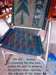 Rving The Usa Is Our Big Backyard Re Weaving A Favorite Lawn Chair Fix As Some Lawn Chairs Clue