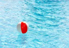 Brilliant Swimming Pool Beach Ball Background Floating In A On And Innovation Design