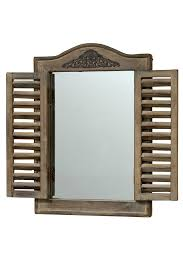 Boltze Spiegel Fensterladen 1 Stück 31x45cm Deko Accessoires