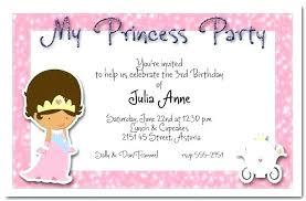 Princess Party Birthday Invitations Bahiacruiser