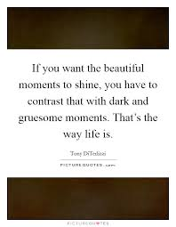 Beautiful Moments In Life Quotes Best Of If You Want The Beautiful Moments To Shine You Have To Contrast
