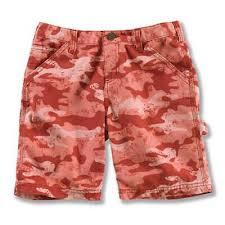 carhartt s washed camo duck shorts