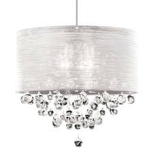 nerisa 4 light antique black and crystal drum shade flush mount intended for contemporary property crystal chandelier with sheer drum shade decor