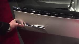 tesla model 3 door handle in action