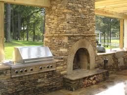 outside brick fireplace grill ideas outdoor stone designs