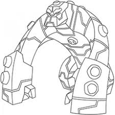 blo from ben 10 omniverse coloring pages