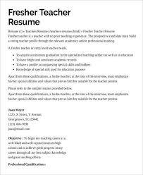 samples of resumes for teachers