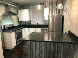 galvanized sheet metal backsplash panels home ideas home
