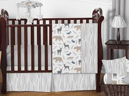 woodland animals baby bedding 11pc crib set by sweet jojo designs only 189 99