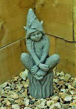 fairy garden statues. Pixie Fairy Garden Ornament Decor Gargoyle Sculpture Stone Statue Decorative Statues