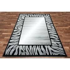 black and white zebra rug astonishing at whole area