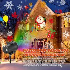 How To Seal Outdoor Christmas Lights Amazon Com Christmas Holiday Projector Lights Kingwill High