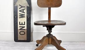 vintage wood office swivel chair desk chair office decor