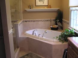 Corner Drop In Soaking Tub With Oval Shape