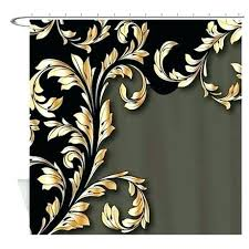 black and gold shower curtain black white gold shower curtain and set home design plan black