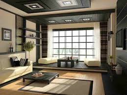 japanese style living room furniture japanese inspired space in dark grey and cream with lots