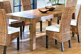 wicker outdoor dining set. Wicker Rattan Dining Chairs Hospitality Indoor Rectangular Table Outdoor Set