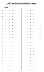 Blank Multiplication Chart 0 10 1 To 10 Times Table Worksheets Free Downloads