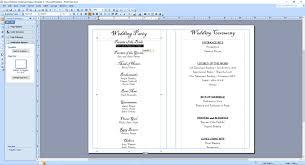 Publisher Wedding Program Template Under Fontanacountryinn Com