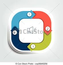 Four Square Chart Template Square Divided In Four Parts Arrows Template Scheme Diagram Chart Graph Presentation Business Concept With 4 Steps Options Processes