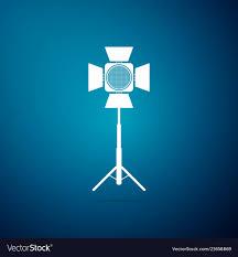Spotlight Graphic Design Movie Spotlight Icon Isolated On Blue Background
