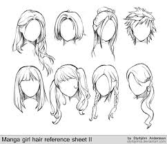 anime hairstyles for girls sketch. Learn Manga Female Hair Styles By Naschi On DeviantArt Style Sketches Intended Anime Hairstyles For Girls Sketch