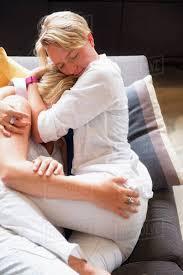 Lesbian feet on sofa