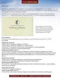 Certificado De Bautismo Template Cokesburys Official United Methodist Resources 2017 2020 By