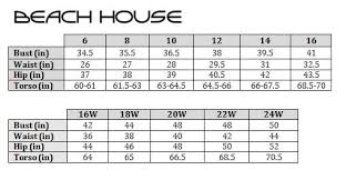 House Size Chart Beach House Berry Plus Size Hayden Adjustable Side Tie Brief
