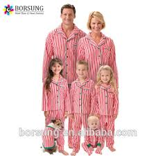 2017 New Wholesale Family Christmas Pajamas Sets Cotton Strips Pjs Adults and Child Clothing