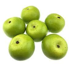 <b>Gresorth 6pcs Lifelike Artificial</b> Green Apple Faux <b>Fake</b> Apples Fruit ...