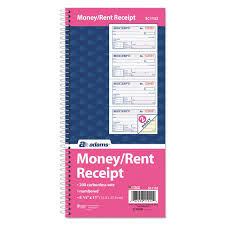 adams two part rent receipt book x carbonless  adams two part rent receipt book 2 3 4 x 4 3 4 carbonless 200 forms com