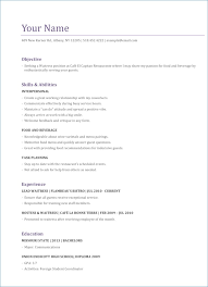 Resume Objective Sample Resume Example
