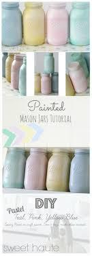 jar crafts home easy diy: easy spring mason jars tutorial decor ideas diy party wedding showers centerpieces pastel