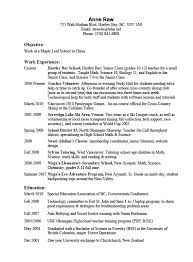 Resume Interests Section Correlate Curriculum Vitae Examples
