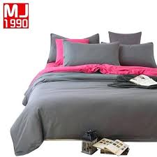 solid color bedding sets a b version sheet pillowcase amp toddler duvet cover soft comf solid color bedding