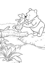 Disegni Da Colorare Winnie The Pooh E Pimpi Attraversano Il Ruscello