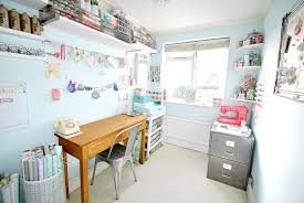 office craft room. Gorgeous Shabby Chic Crafts Room Is All About Smart Organization [Design: Torie Jayne] Office Craft