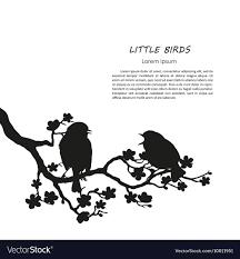 two bird silhouette. Wonderful Two Inside Two Bird Silhouette