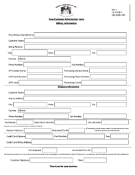 Customer Information Template Customer Information Form Template Microsoft Word Fill