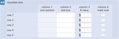 Surveys Formats Layout For Self Administered Paper Questionnaires