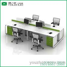 circular office desks. M8 Circular Steel Tube Braced Frame White 4 People Office Desk With Table Partition Desks C