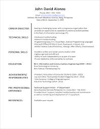 Formal Resume Template 75 Images Sample Of Job Resume Format