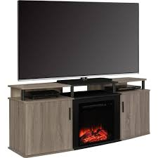ameriwood home carson electric fireplace tv console for tvs up to 70 cherry black com