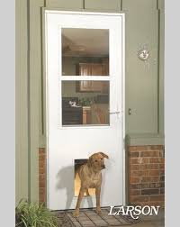 exterior back door with dog door. when your pets are mature enough to go outside alone, a built in larson pet door is great way reward them with endless opportunities. exterior back dog d