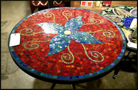 mosaic patio table and chairs diy outdoor mosaic table mosaic tabletop ideas