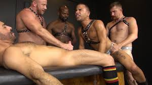 Rough muscle gay orgy