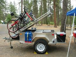off road trailer with bike rack