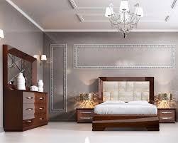 Modern Walnut Bedroom Furniture Set Modern Style In Walnut Carmen 3313cr